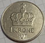 Норвегия 1 крона 1977, фото №3