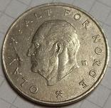 Норвегия 1 крона 1975, фото №2