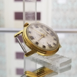 Позолоченные часы Полет Будильник ау20 СССР, фото №4