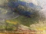 А.Манастырский, Пни, холст, масло, размер 46х54,5 см, 1958 год., фото №6