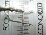Серебряные Серьги Сережки Длинные Камни Английская Застежка 925 проба Серебро 139, фото №9
