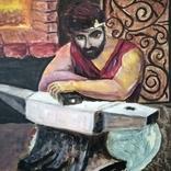 Картина Кузнец в раздумьях, фото №4