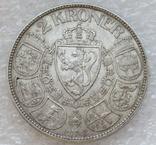2 кроны 1908 г. Норвегия, серебро, фото №3
