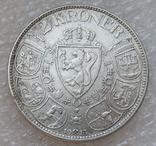 2 кроны 1913 г. Норвегия, серебро, фото №3