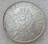 2 кроны 1913 г. Норвегия, серебро, фото №5