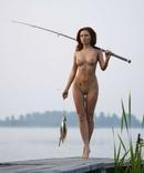 Рыбачка с уловом., фото №2