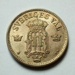 Швеция 25 эре 1907 г. Оскар II, фото №5