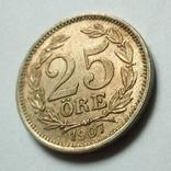 Швеция 25 эре 1907 г. Оскар II, фото №6