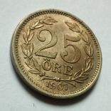 Швеция 25 эре 1907 г. Оскар II, фото №7