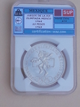 25 песо, Мексика, 1968 г., XIX летние Олимпийские игры, серебро, сертификат WAC, фото №2