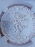25 песо, Мексика, 1968 г., XIX летние Олимпийские игры, серебро, сертификат WAC, фото №3