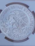25 песо, Мексика, 1968 г., XIX летние Олимпийские игры, серебро, сертификат WAC, фото №5