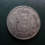 1 крона 1915 Дания серебро (й.3.7), фото №2
