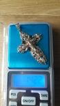 Крест.золото 585пр. вес 14.22гр, фото №4