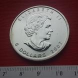 5 Канада 2007 г Кленовый лист, фото №4
