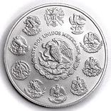 "Серебряная монета. 2021. ""Мексиканский Либертад"". Мексика (серебро 9999, вес 31,1 г), фото №3"