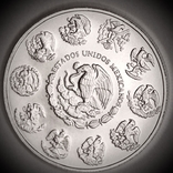 "Серебряная монета. 2021. ""Мексиканский Либертад"". Мексика (серебро 9999, вес 31,1 г), фото №7"