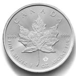 5 долларов. 2021. Кленовый лист. Канада (серебро 9999, вес 31,1 г), фото №2