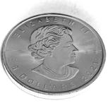 5 долларов. 2021. Кленовый лист. Канада (серебро 9999, вес 31,1 г), фото №8