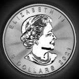 5 долларов. 2021. Кленовый лист. Канада (серебро 9999, вес 31,1 г), фото №9