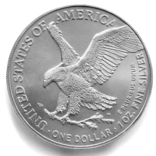 1 доллар. 2021. Американский орел. США (серебро 999, вес 31,1 г), фото №2