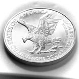 1 доллар. 2021. Американский орел. США (серебро 999, вес 31,1 г), фото №4