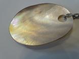 Перламутровый кулон на серебренной цепочке. 5,9*4 см., фото №7