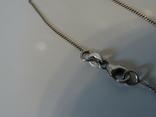 Перламутровый кулон на серебренной цепочке. 5,9*4 см., фото №8