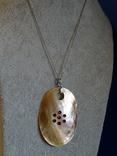 Перламутровый кулон на серебренной цепочке. 5,9*4 см., фото №10