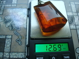 Кулон подвес янтарь 2ЯК серебро 875звезда 12,69гр., фото №2