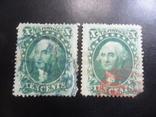 Классика США. 1857 г. Дж. Вашингтон. Каталог- 704 дол. США, фото №2