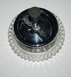 Пепельница, механизм юла, хрусталь/мнц, Германия/60-е года, Nachtmann - 12,5 см., фото №3