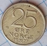 Норвегия 25 оре 1977, фото №2