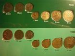 Коллекция монет 1922-57г. в двух альбомах 209 шт., фото №6