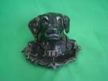 Пепельница Собака металл, фото №3