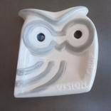 Пепельница Сова, керамика, Испания. К193, фото №2