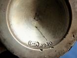 Десертные креманки клейма FRAGET, толстое серебрение накладкой 40мкм, фото №10