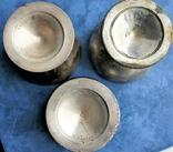 Десертные креманки клейма FRAGET, толстое серебрение накладкой 40мкм, фото №11