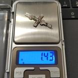 Крест серебро 925*, фото №3