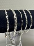 Серебряные браслеты 5 штук, фото №3