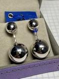 Серебряные серьги 6 штук, фото №8