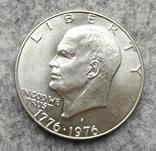 США 1 доллар 1976 S серебро Эйзенхауэр аАНЦ, фото №2