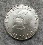 США 1 доллар 1976 S серебро Эйзенхауэр аАНЦ, фото №3