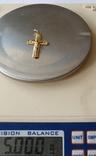 Крест, золото 750*, Италия, фото №4