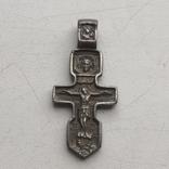 Крестик серебряный 3 см, фото №2