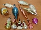 Лот новогодних игрушек времён ссср, фото №2