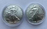 Доллар США 2021 новый и старый дизайн Американский орёл Шагающая свобода, фото №6