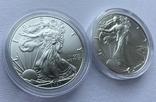 Доллар США 2021 новый и старый дизайн Американский орёл Шагающая свобода, фото №7