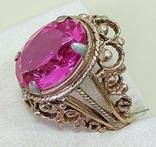 Кольцо с розовым камнем (3), фото №3