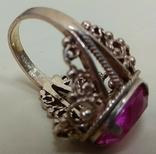Кольцо с розовым камнем (3), фото №8